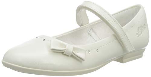 s.Oliver Mädchen 5-5-42800-24 Geschlossene Ballerinas, Weiß (White 100), 33
