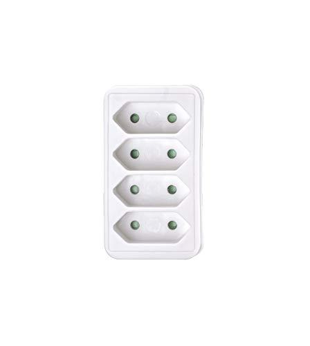 4-fach Euro Multistecker Adapterstecker Schutzkontakt KINDERSCHUTZ Verteiler Mehrfachstecker (Euro 4-fach Stecker Weiss)