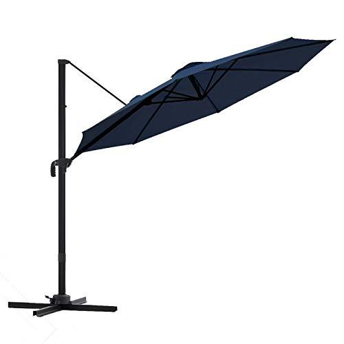 wikiwiki Offset Cantilever Umbrella 10ft Patio Umbrella...