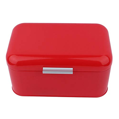 SUNSHINEFACE 솔리드 컬러 레트로 금속 빵 빈 상자 대용량 주방 스토리지 컨테이너