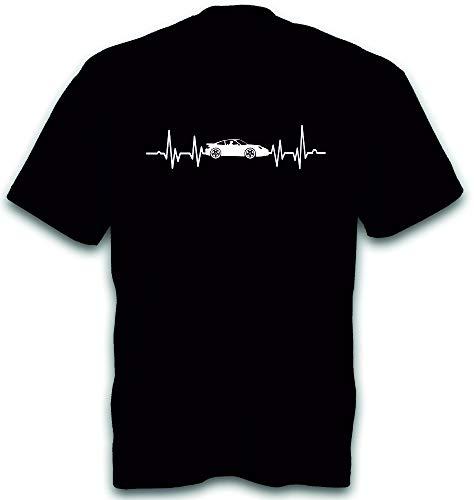 T-Shirt Herzschlag 911 Sportwagen Youngtimer Auto PKW Heartbeat Gr. M