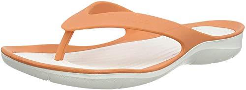 Crocs Swiftwater Flip Mujer, Grapefruit/White, 37/38 EU
