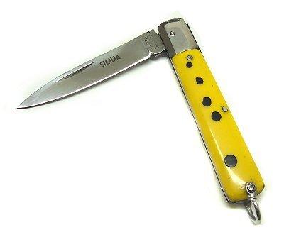 Sizilianische Messer 15cm Griff gelb aus Stahl gemeinsamen Copper