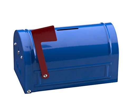 Arregui Hucha Mail C9701 Caja de Caudales Infantil, Hucha infantil, con forma de Buzón Americano, color azul