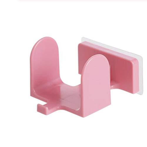 WEIHEEE Wandbehang Pantoffelhalter Selbstklebende Pantoffeln Abtropfgestell Abnehmbarer Badvorratsbehälter Multifunktionswerkzeug,Rosa