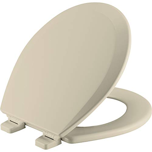 BEMIS 500TTT 006 Toilet Seat will Never Loosen and Provide the Perfect Fit, ROUND, Bone