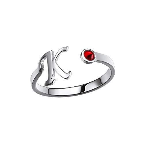 Custom4U Initial Rings for Women Adjustable Finger Rings for Women Ring with Name