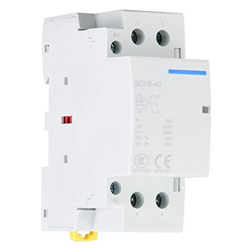 SALUTUYA 2P 40A Contactor de CA doméstico de bajo consumo de energía,...