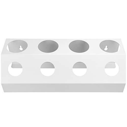 DAUERHAFT Rejilla de Drenaje de Soda de 4 Tapas, Organizador de Almacenamiento de Botellas de Agua de Cocina de Silicona para cocinas caseras para comedores para(White Four Holes)