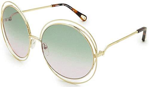 Chloé Ce114sd Gafas de sol, Gold/Havana/Grad Green Ro, 62 para Mujer