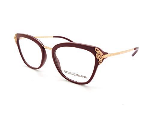 Dolce & Gabbana Occhiali da Vista FILIGREE & PEARLS DG 5052 BURGUNDY 52/19/140 donna