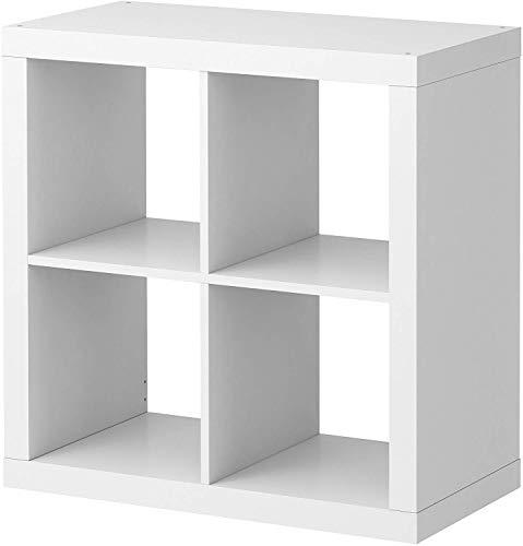 Ikea Kallax - Estantería de almacenamiento para muebles, color blanco y roble