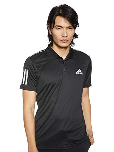 adidas Club 3STR Polo Camiseta, Hombre, Black/White, S