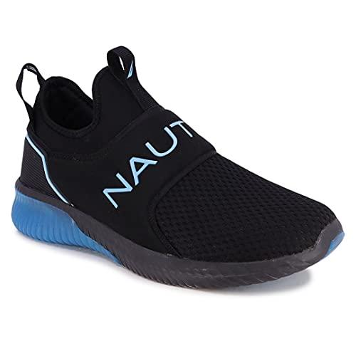 Nautica Men's Casual Fashion Sneakers-Walking Shoes-Lightweight Joggers-Coaster-Black Mono Cyan-11