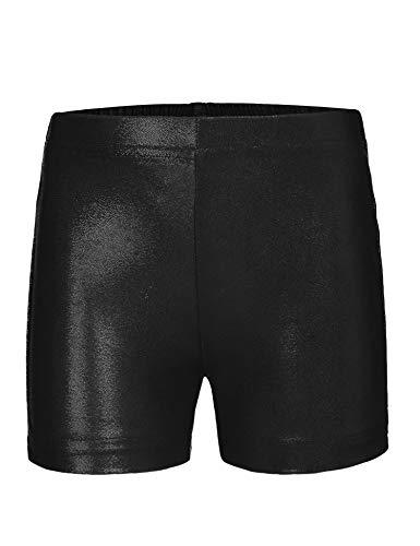 trudge Mädchen Gymnastik Turn Shorts Glänzend Athletik Tanzen Shorts Kurze Hosen Sport Fitness Hot Pants
