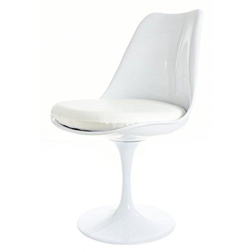 Eero Saarinen Bianco E Bianco Pu Stile Lato Sedia Tulip