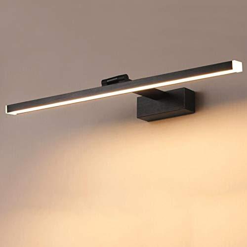 Luz LED para Espejo de baño, 12W, iluminación de Maquillaje, Neutral, Tres Colores, Ajustable, Espejo Negro, iluminación Frontal, luz del gabinete, Clase energética A,Negro,40cm15.5inch8W