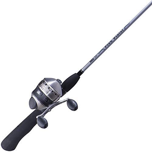 Zebco 33562PML, 10C, NS4 Zebco 33 Spincast Combo, Pistol Grip, 5'6' 2Piece Rod, 3.6: 1 Gear Ratio, Ambidextrous, Silver