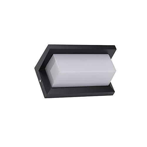 MUMUMI Lámpara de Pared LED Moderna Minimalista Moda Esquina Lámpara Al Aire Libra Lámpara de Pared Lámpara de Pared Personalidad Lámpara Pasillo Aisle Negro Muro Aplique