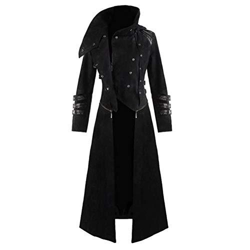 SHANGYI jack capuchon jurk lange mouwen windbreaker party kostuum vest lange mouwen jas zwart party menwear