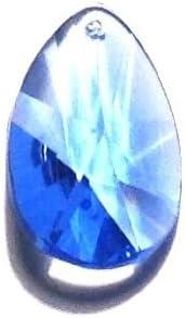 38mm Medium Safety and trust Sapphire Blue Prisms online shop Teardrop Crystal