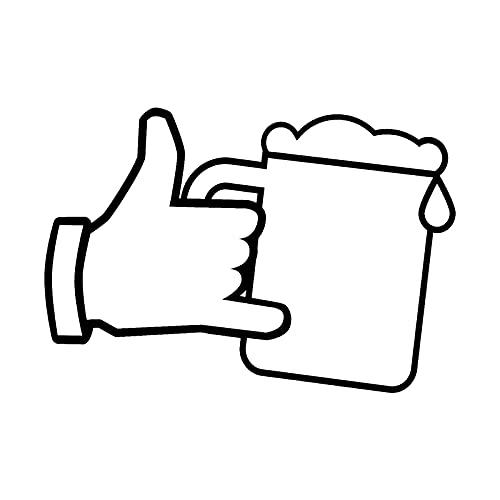 WZJH 14.8cm x 10,3cm Vidrio de Cerveza y Etiqueta de automóvil de Mano Vinilo gráfico decoración (Color Name : Black)