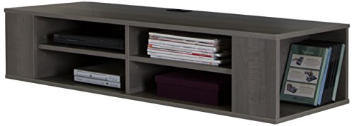 South Shore City Wall Mounted Media Audio/Video Console, Gray Maple