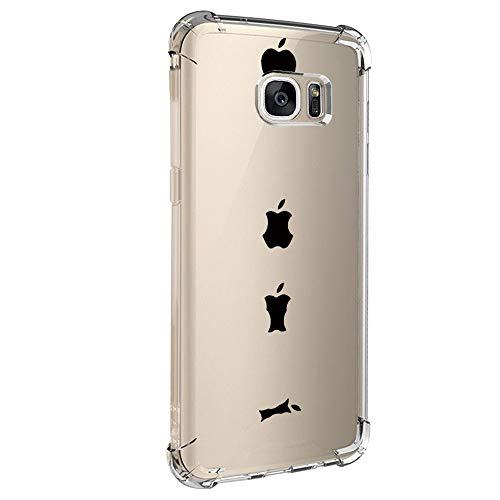 Carcasa para Samsung Galaxy S6 Edge, funda de cristal transparente, funda de silicona suave, funda fina resistente a los arañazos, diseño creativo transparente, funda para Galaxy S6 Edge 2 M