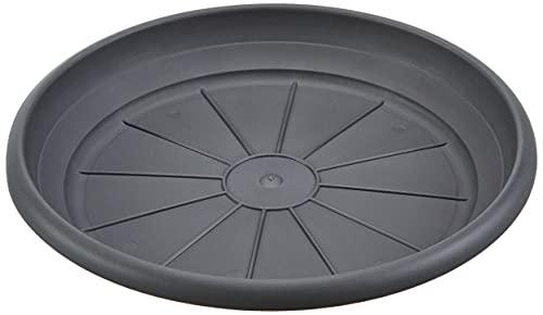 Scheurich Sottobicchiere in plastica grigio metallizzato, diametro 30 cm, altezza 4,7 cm