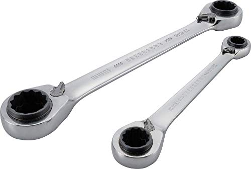 CRAFTSMAN Ratchet Wrench Set, Metric, 2-Piece with Ratcheting Box End (CMMT12074)