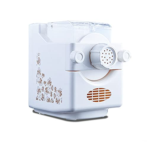 Hchao Electric Pasta Maker Machine,Automatic Multifunctional Noodle Machine,Machine Dumpling Machine Moulds,Adjustable Thickness,with 9 Kinds Of Die Heads,for Pasta Spaghetti