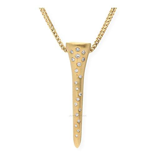 JuwelmaLux hanger golftee met briljanten goud 750/000 met ketting JL30-05-0078 3470