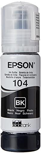 Epson Original 104 EcoTank Tintenflasche (ET-2710 ET-2711 ET-2720 ET-2726 ET-4700 ET-2712 ET-2721) schwarz