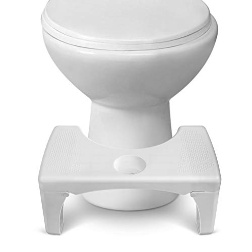 Rokoo Step Stool, Pro Toilet Stool Detachable and Folding Step Stool, with Silicone Foot Pad and Replaceable Spice Box 7' Fits All Toilet