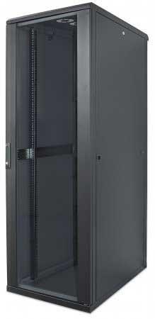 Preisvergleich Produktbild kab24® Netzwerkschrank Serverschrank Wandhehäuse Netzwerk Wandschrank Wandverteiler SOHO Schrank schwarz 19 Zoll 42 HE H:205, 7 x B:60 x T:60cm