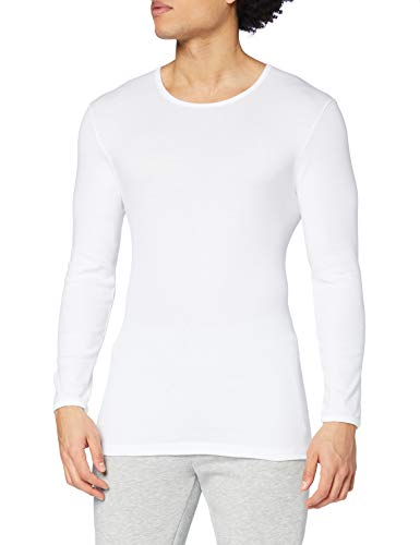 Calida Herren Cotton 1:1 Shirt langarm Unterhemd, Weiß, 52
