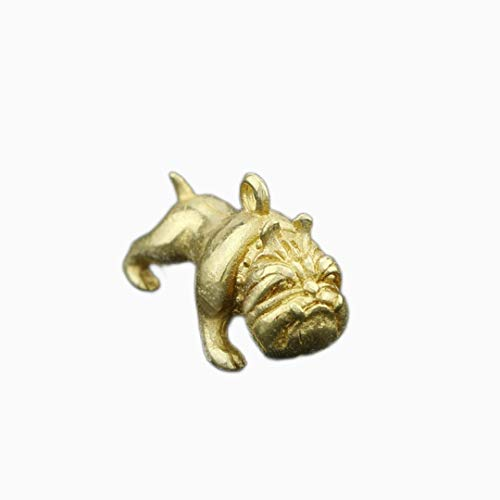 Handmade Brass Key Buckle Chain Pendant Parbab Bago Eight Brother French Bulldog Key Pendant Hanging