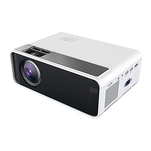 ZXN RTU impresionante calidad de imagen mini proyector de vídeo portátil, proyector LED portátil de cine en casa compatible con 1080P, HDMI/VGA/TF/USB/entretenimiento en casa u uso de oficina
