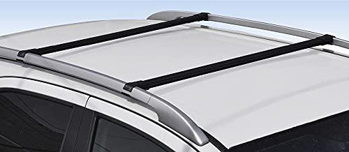 GEV Barre PORTATUTTO Premontate Specifiche Fiat Panda II Serie 2003 2011 Nero Acciaio 8814