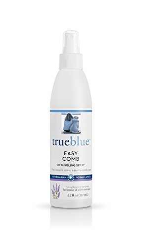 TrueBlue Lavender & Olive Extract Easy Comb Dog Hair Detangling Spray – Detangles, Conditions Coats for Dogs, Puppies, Cats – Moisturizing, Toxin Free, Natural Botanical Blend – 8.7 Fl. Oz.