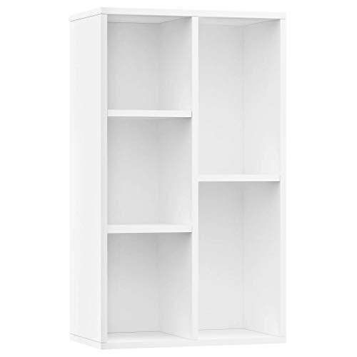 Boekenkast/dressoir 45x25x80 cm spaanplaat wit