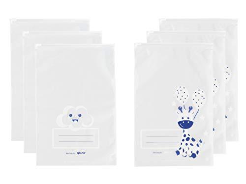 GIU.NE® Bolsas para ropa de bebé, 6 unidades, bolsas para equipaje de hospitales, cierre con cursor hermético, ideal como regalo, certificado ISO9001 ecológico