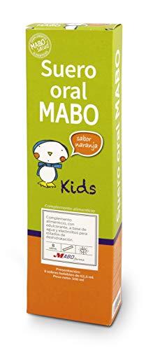 Suero Oral MABO Complemento alimenticio a base de agua y sales minerales (8 sobres FLASH) (Naranja)