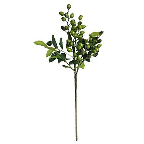 Simulación de Frijol único Planta de Flor Artificial Flor Falsa Baya pequeña, Día de San Valentín Decoración del hogar