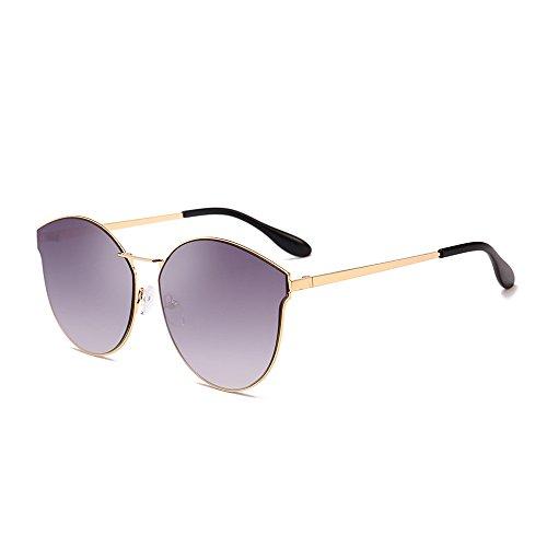 FRAUIT Damen Retro Shades Sonnenbrille Integrierte UV-Brille Bunte große Kiste, Sonnenbrillen Schutz Unisex Damen Herren Vintage Rund - Farben, Verspiegelt, Schwarz