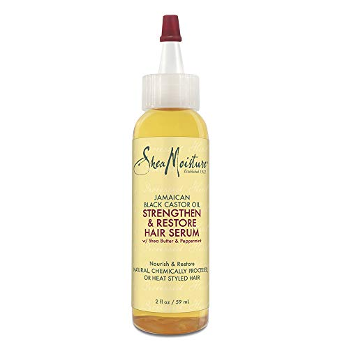 Sheamoisture Hair Serum Oil for Damaged Hair Jamaican Black Castor Oil Hair Oil with Shea Butter 2 oz