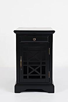 Jofran Craftsman End USB Charging Station Table 16  Wx22 Dx25 H Antique Black