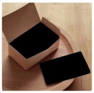 卸の店 メッセージカード クラフト紙 無地カード 荷札 ラベルタグ 無地用紙 100枚入り 黒