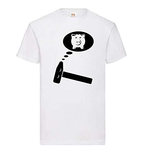 Hamer droomt van spaarvarken mannen T-shirt - shirt84.de