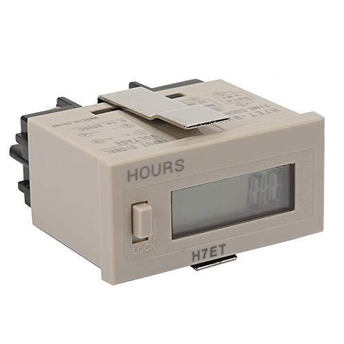 Electrical Counter Totalizer, DC 5-30V H7ET-BVM Digital Electrical Counter Totalizer with 6-Digit LCD Display(1#)